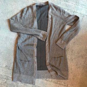 grey Brooks Brothers silk/cashmere sweater